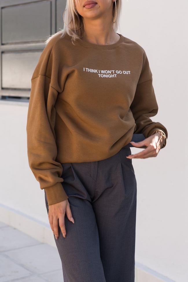 Μπλούζα Φούτερ με Τύπωμα