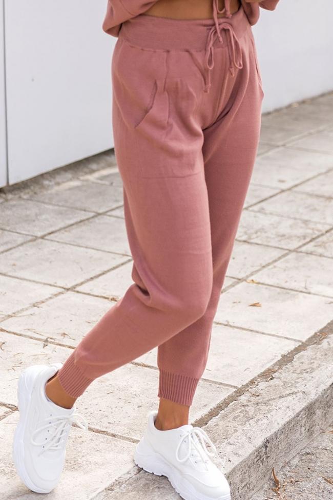 Παντελόνι Πλεκτό με Τσέπες